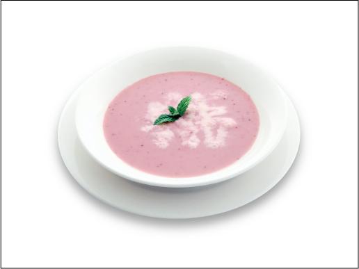 いちごの冷スープ_盛付例